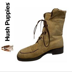 Hush Puppies Tan Waterproof Boots